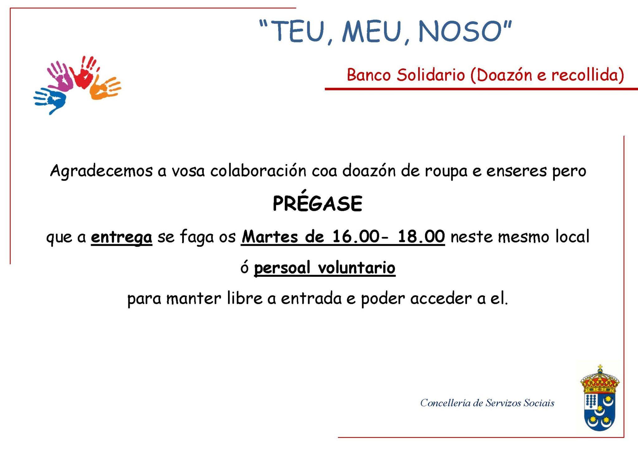 Banco Solidario-Horarios