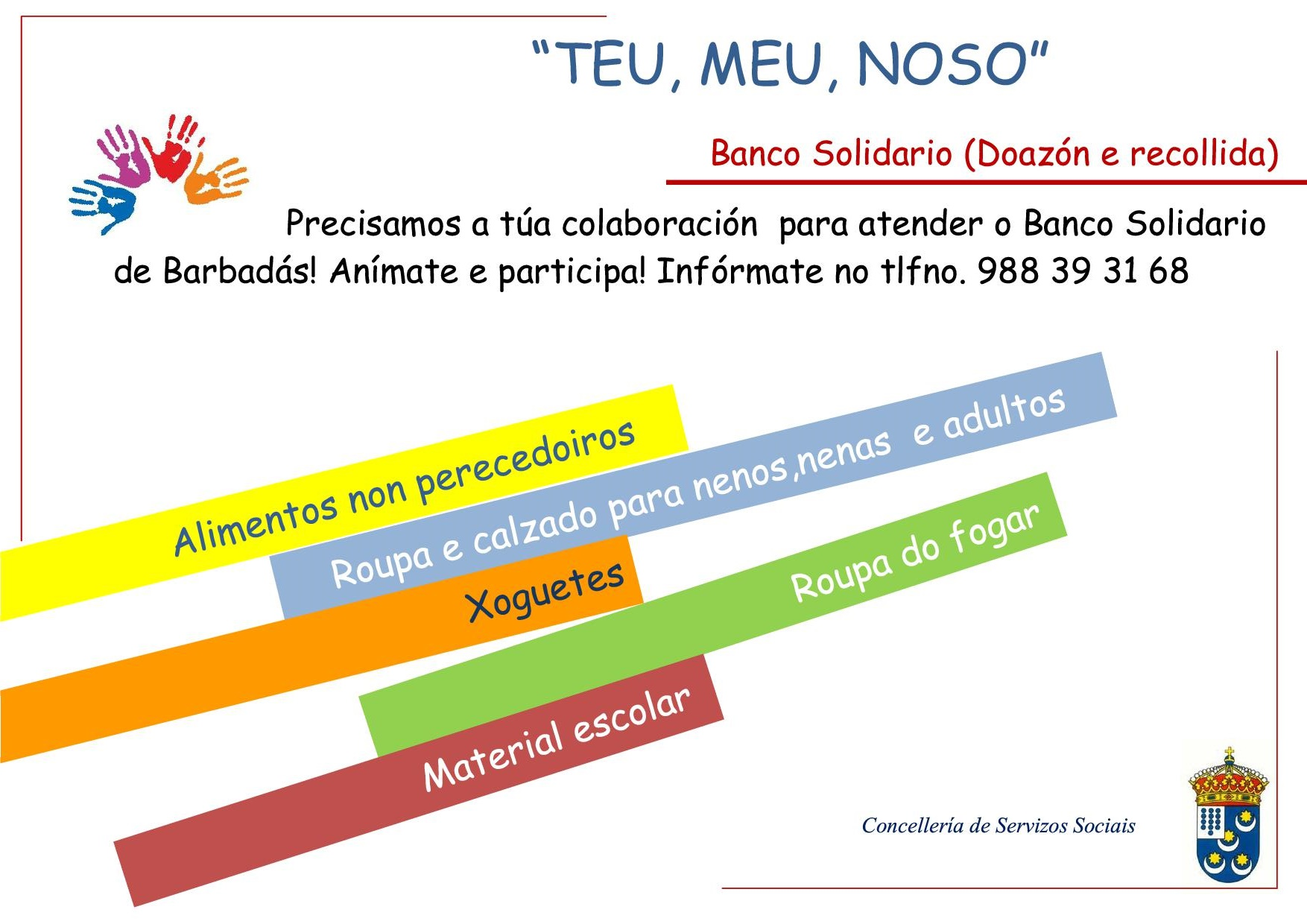 Banco solidario-Voluntarios