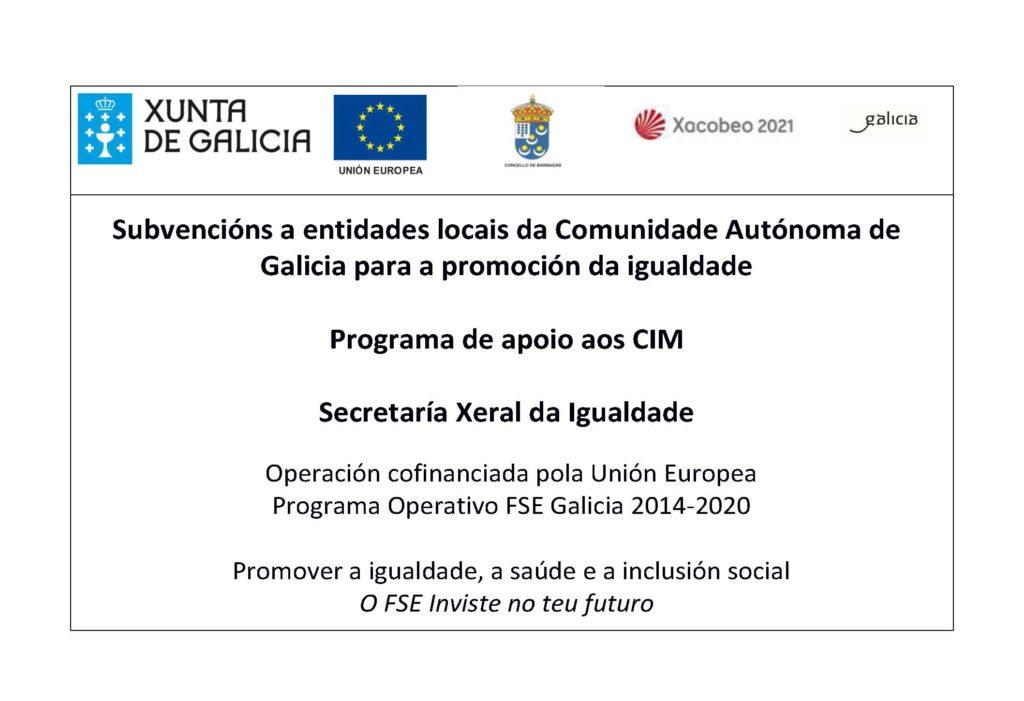 Programa de apoio ao CIM - Xunta de Galcia