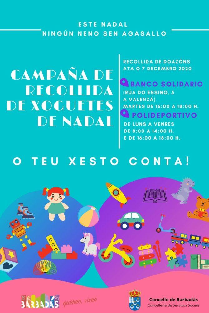 Cartaz campaña recollida de xoguetes de Nadal