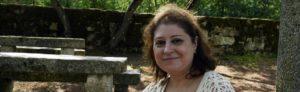 Ana Lombao, escritora residente en Parada. Foto Rosa Veiga