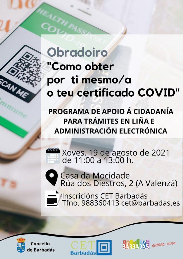 Obradoiro Obtén o certificado COVID ti mesmo