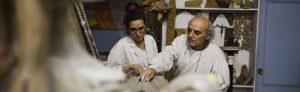 Lucía e José Garrido, restauradores en Barbadás