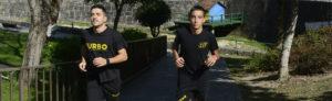 BOXEO/KICKBOXING Esqu. Manu Míguez, no equipo olímpico para 2023, e der. Manu Pérez nos campeonatos nacionais. A Valenzá 29/08/21 foto Rosa Veiga